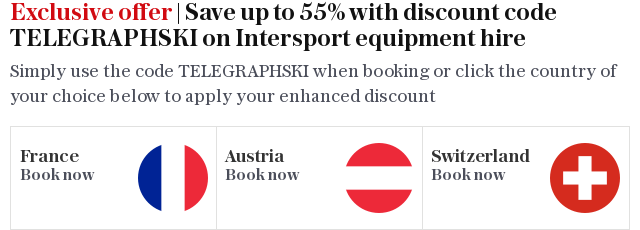 Exclusive offer | Save up to 55% with discount code TELEGRAPHSKI on Intersport equipment hire