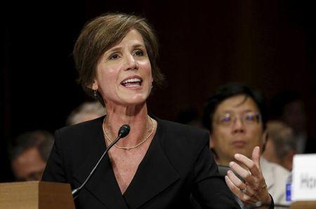 """U.S. Deputy Attorney General Sally Quillian Yates testifies during a Senate Judiciary Committee hearing on """"Going Dark: Encryption, Technology, and the Balance Between Public Safety and Privacy"""" in Washington July 8,  2015. REUTERS/Kevin Lamarque"""