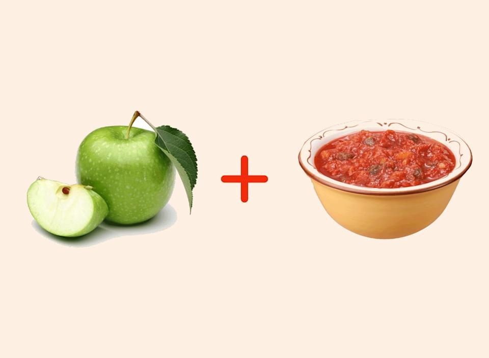 green apple with salsa amazing food pairings