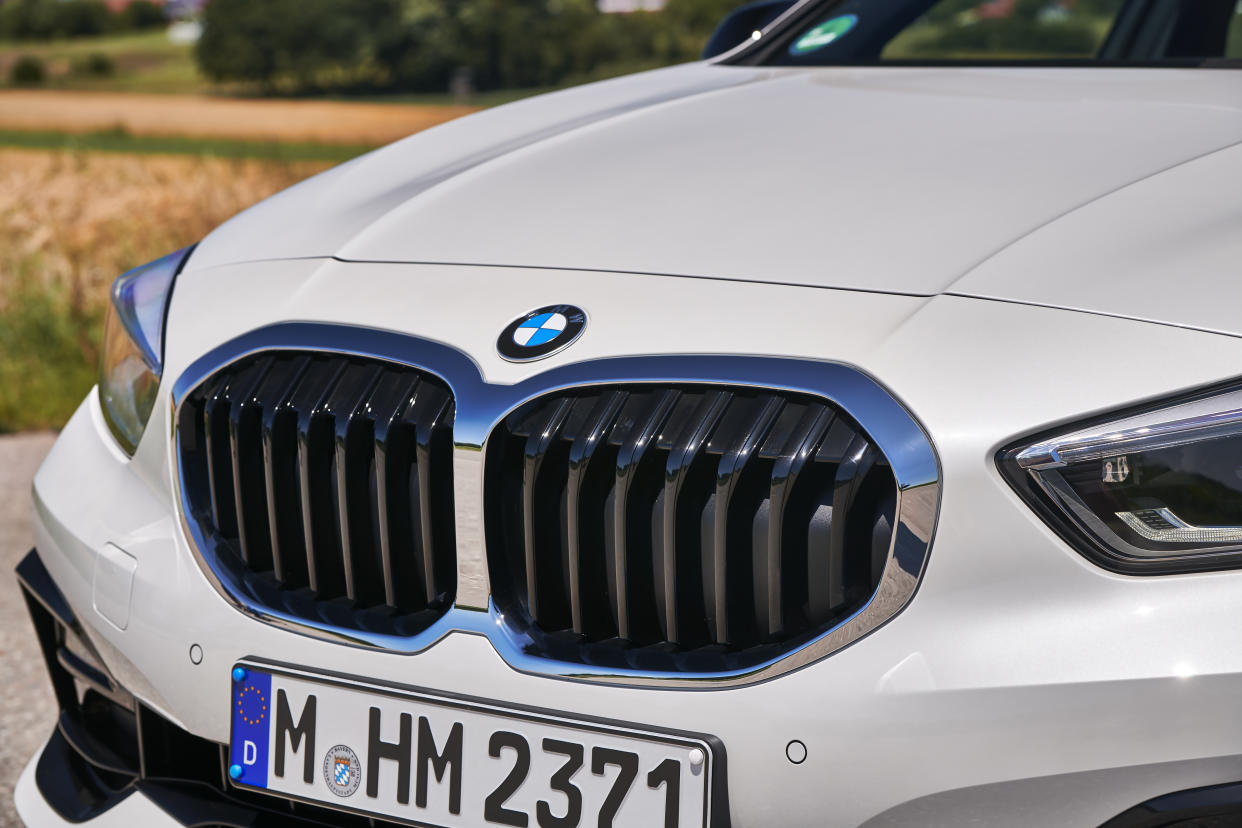The huge kidney grilles are hard to miss