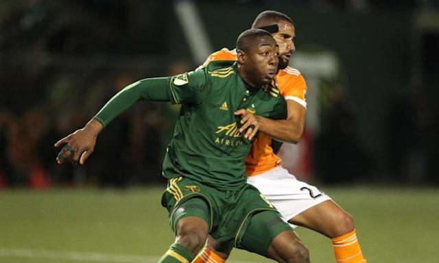 "<span class=""element-image__caption"">Fanendo Adi's Portland kept their 100% record intact with victory over Houston. And it was certainly entertaining.</span> <span class=""element-image__credit"">Photograph: Pete Christopher/AP</span>"