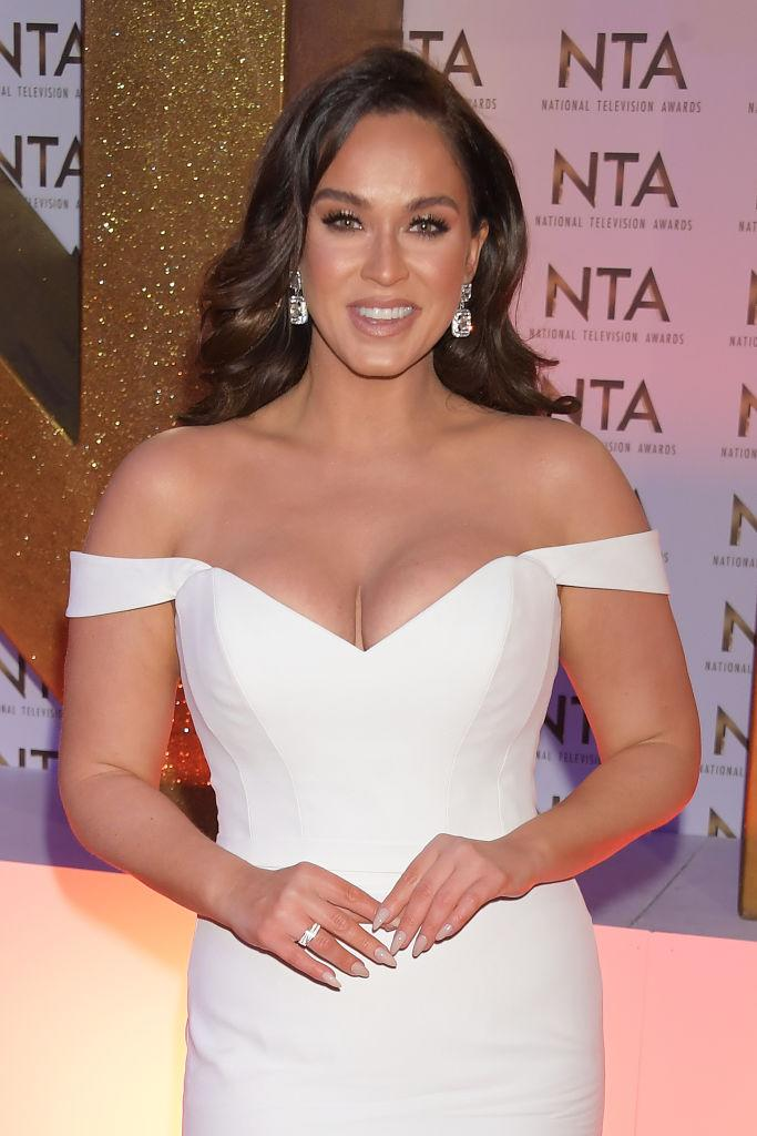 Vicky Pattison has struggled with her body image in the past, pictured in January 2020. (Getty Images)