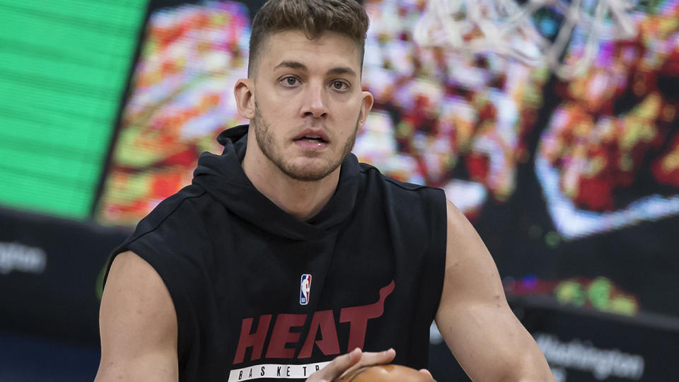 Meyers Leonard has been traded to Oklahoma City, however the Thunder has stated his services will not be required. (Photo by Scott Taetsch/Getty Images)