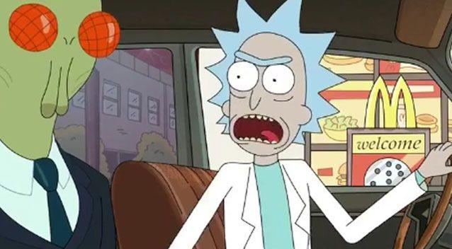 The promotional sauce became in demand after it was featured in cult cartoon Rick and Morty in April. Picture: Adult Swim