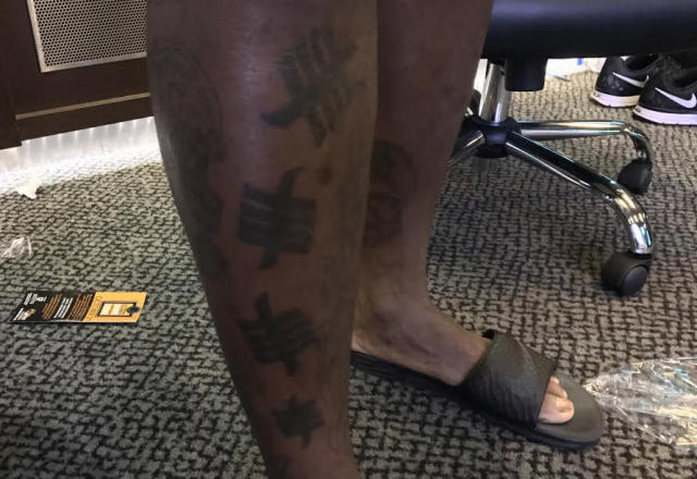 """<p>Malik Jackson, DT, Jacksonville. """"The story about my tat is that it is tally marks of all the sacks I have gotten in the past five years of my career. I was sitting on the couch one day and wanted to commemorate the heart, sweat and blood that I have put in this game. I wanted to not only let myself know the accomplishments I have made, but for the world to know too. I got the tally marks to signify what I was able to do and make sure I can tell myself who I am when I look back [at my career] as a pass rusher. It makes me want to earn and get more."""" </p>"""