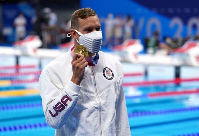 Caeleb Dressel, pictured, overcame Kyle Chalmers by just 0.06 seconds (Adam Davy/PA)
