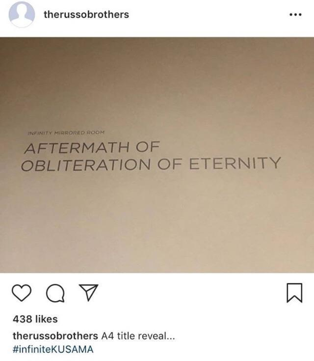 The Russos posted (then deleted) this document