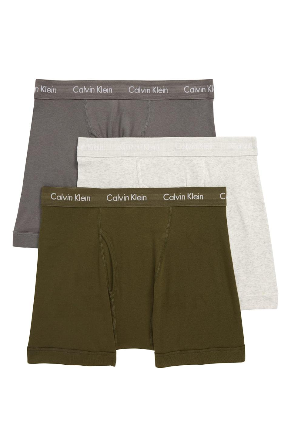 <p>These <span>Calvin Klein 3-Pack Boxer Briefs</span> ($29, originally $40) would be great stocking stuffers.</p>