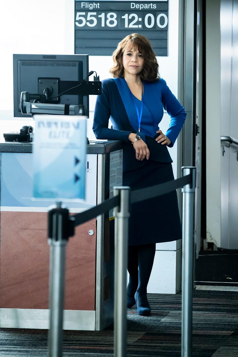 Rosie Perez plays Megan Briscoe on HBO Max's 'The Flight Attendant.'
