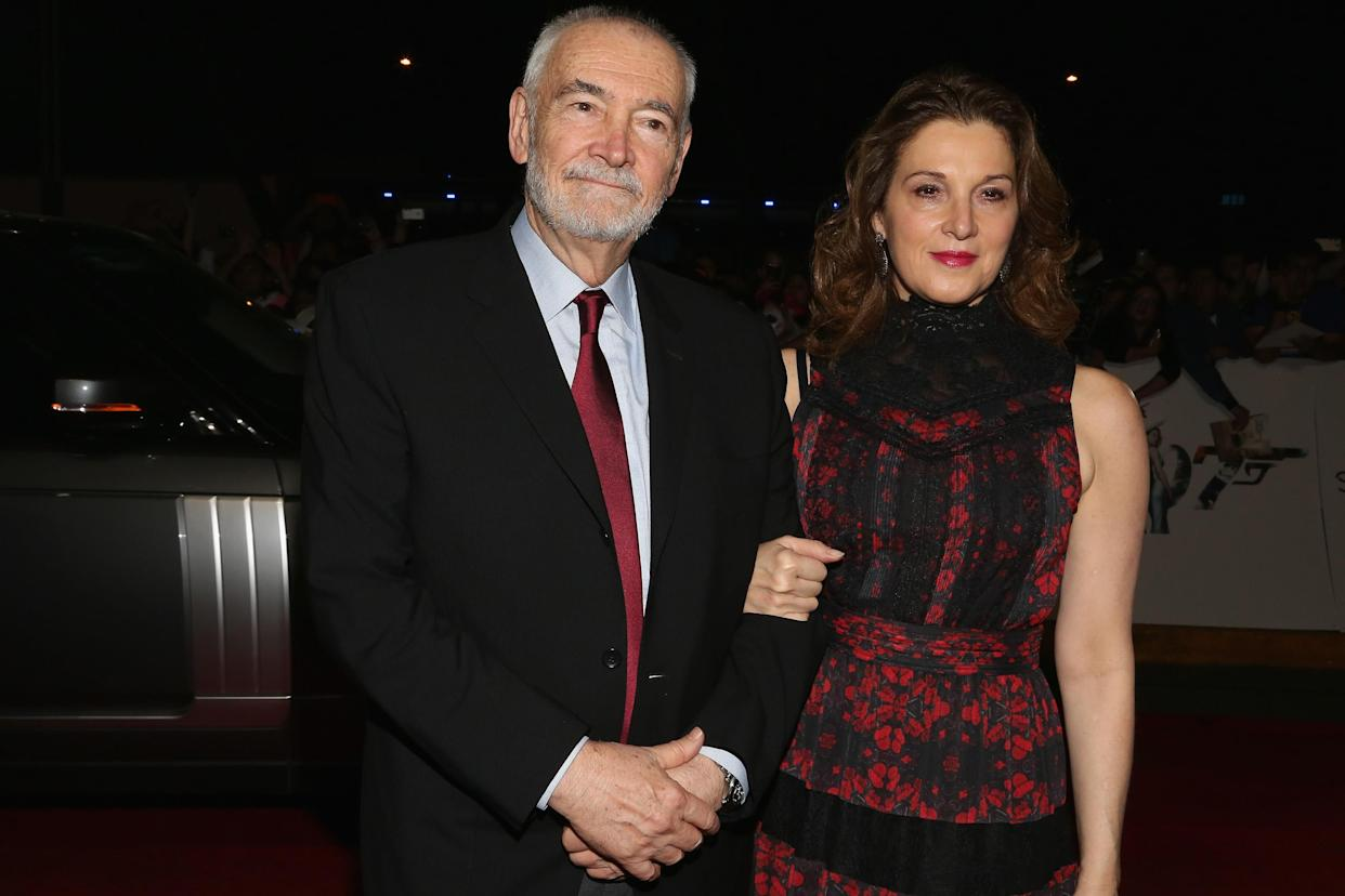 MEXICO CITY, MEXICO - NOVEMBER 02:  Producers Michael G. Wilson and Barbara Broccoli attend the