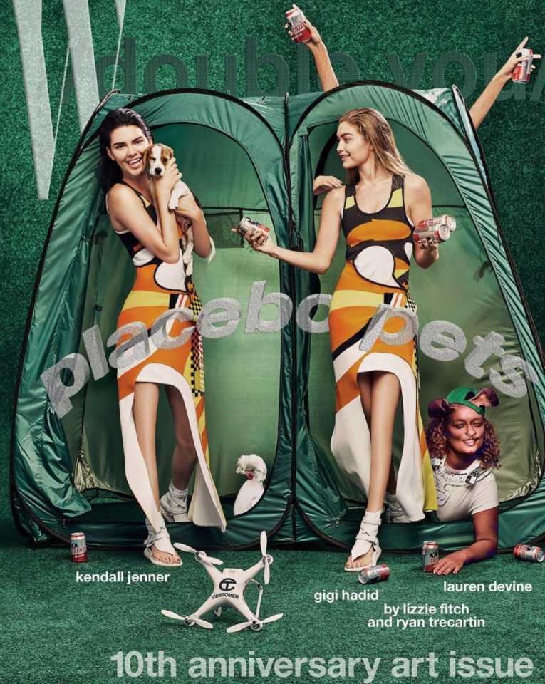 <p>For <i>W</i>'s 10th anniversary art issue, Kendall Jenner and Gigi Hadid appeared on the cover with no knees. No one was sure if this was intentional as the shoot was meant to turn the young supermodels into human-animal hybrids. Either way, those legs are certainly joint free. <i>[Photo: Instagram/wmag]</i> </p>