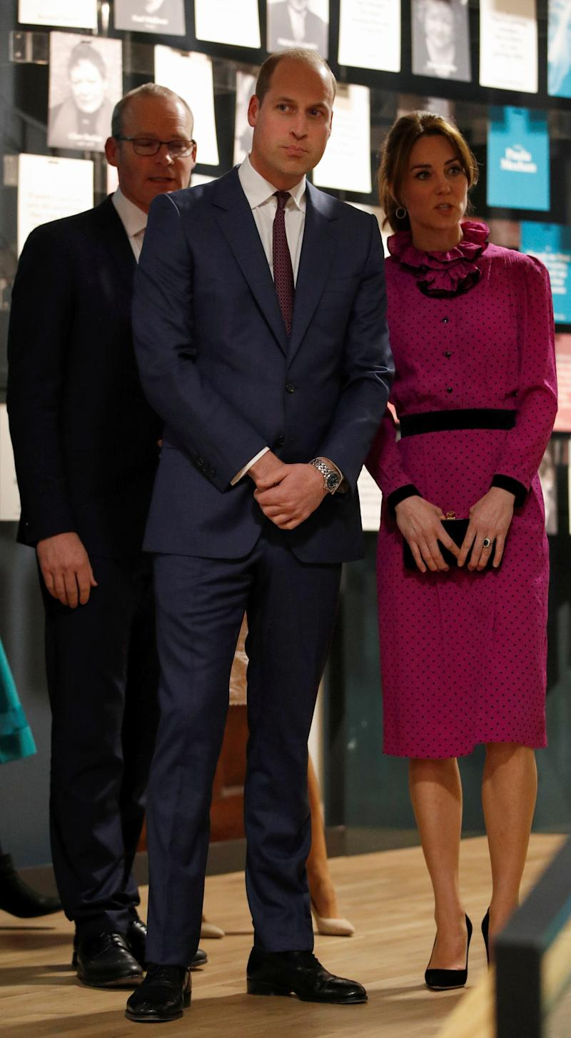 The Duke and Duchess of Cambridge attend a reception hosted by Tanaiste, Simon Coveney, in central Dublin, as part of their three day visit to the Republic of Ireland.