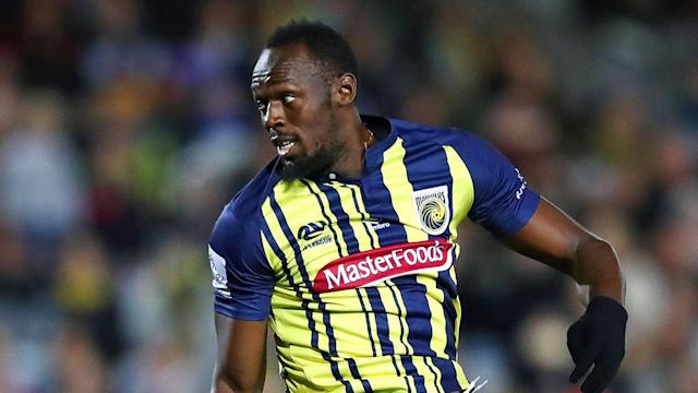 "<a class=""link rapid-noclick-resp"" href=""/olympics/rio-2016/a/1056797/"" data-ylk=""slk:Usain Bolt"">Usain Bolt</a>, professional footballer: the Olympic sprinter made his debut with an Australian club on Friday. (Getty)"