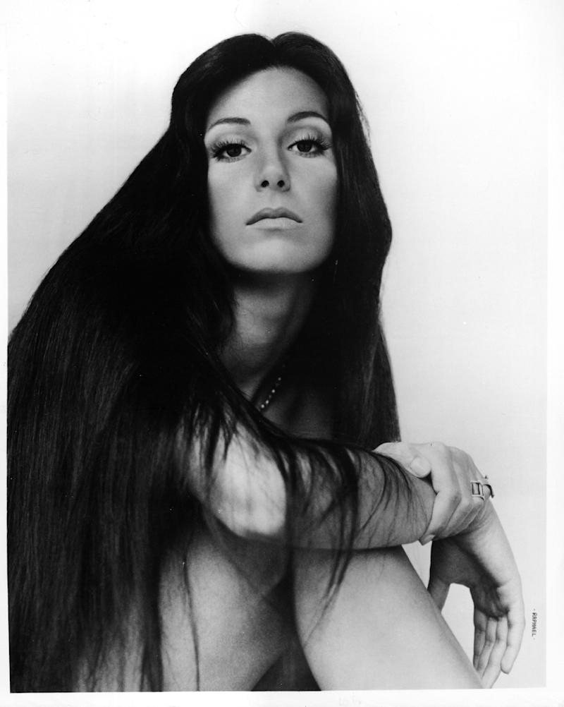 CIRCA 1972: Entertainer Cher poses for a portrait for Kapp Records in circa 1972. (Photo by Michael Ochs Archives/Getty Images)
