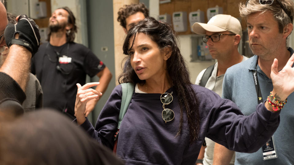 Director Reed Morano on the set of 'The Rhythm Section'. (Credit: Jose Haro/Eon/Paramount)