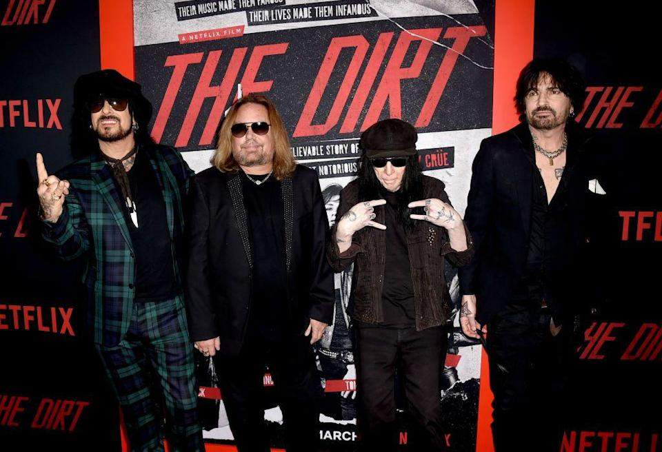 <p>Arriving in 2019 at the premiere of the Netflix biopic The Dirt, which is based on the band's best-selling book. The band also released four new songs for the film's soundtrack, which reached No. 10 on the Billboard 200.</p>