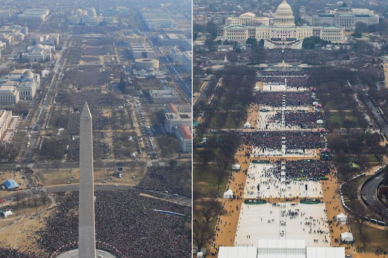 Official NPS Photos Show President Trump's Inauguration Was Smaller Than Obama's
