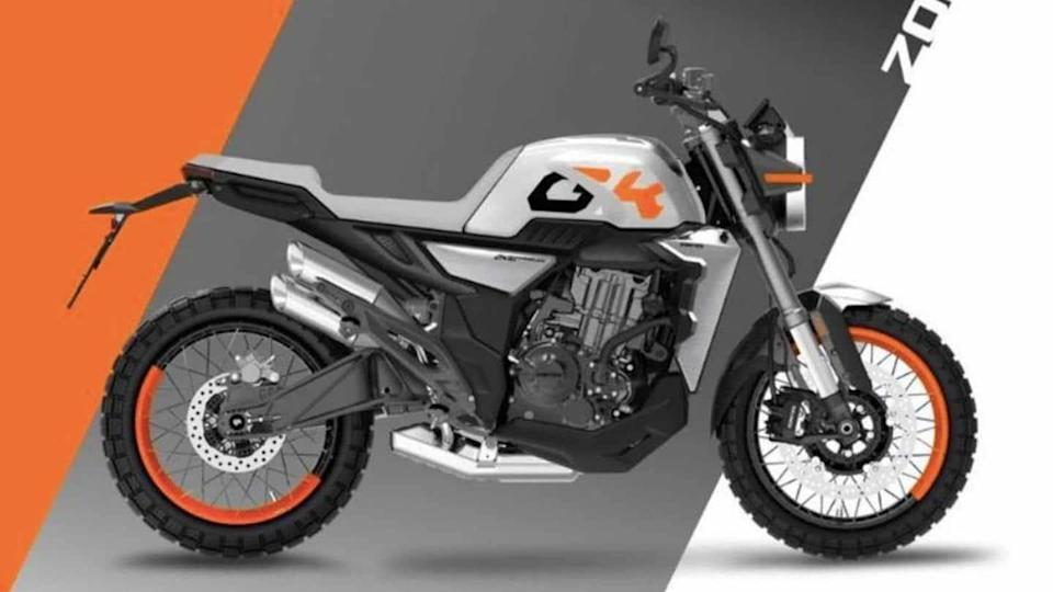 Zontes unveils 350GK scrambler concept bike for the Chinese market