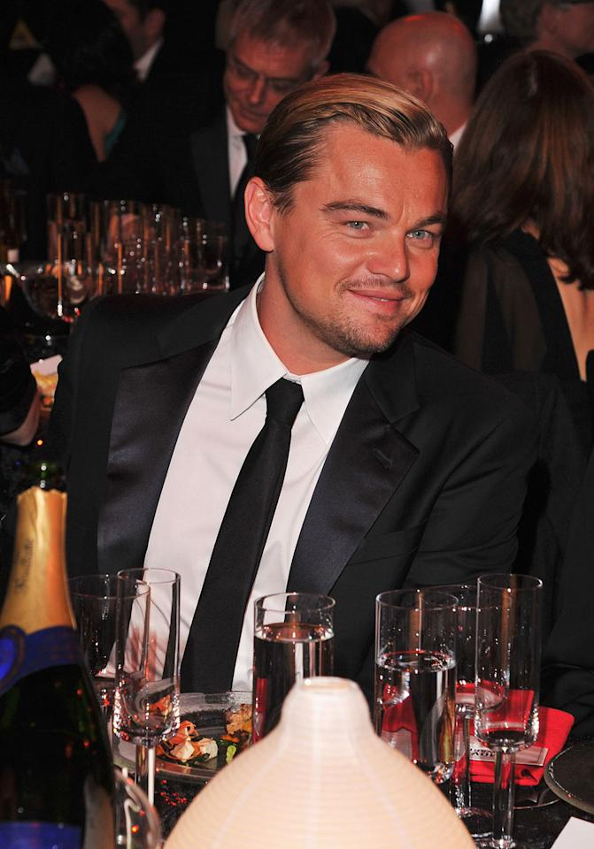 """<a href=""""http://movies.yahoo.com/movie/contributor/1800020898"""">Leonardo DiCaprio</a> at the 17th Annual Critics' Choice Awards reception in Hollywood on January 12, 2012."""