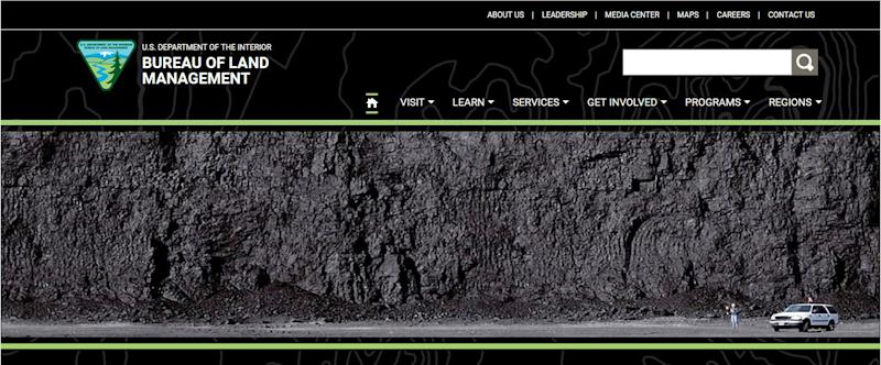 Web page for US public lands agency showcases coal mine