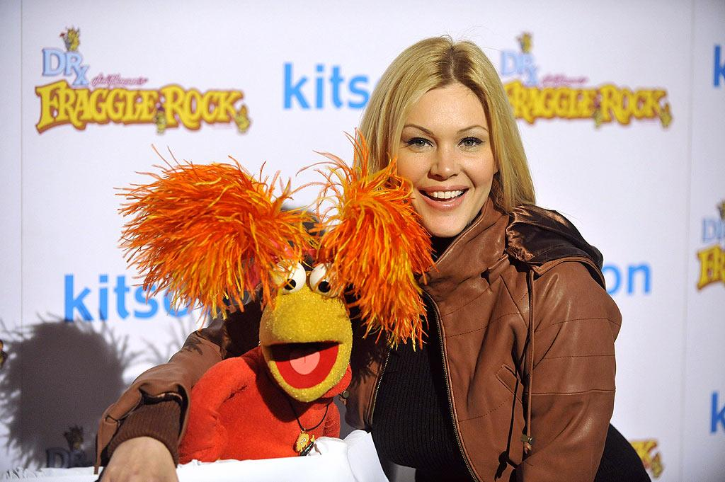 "Shanna Moakler also got up close and personal with one of the ""Fraggle Rock"" characters. Toby Canham/<a href=""http://www.gettyimages.com/"" target=""new"">GettyImages.com</a> - December 9, 2009"