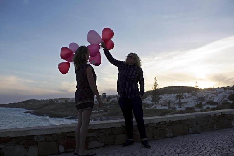 Balloon release: Two Britons release ten balloons to mark the anniversary of the disappearance (AP)