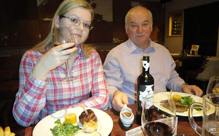 Sergei Skripal with his daughter Yulia - East 2 West