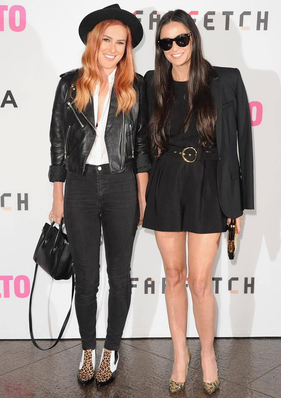 <p>Even with her strawberry blonde hair, you can't deny that Rumer and Moore still look like twinsies at the Los Angeles premiere <em>Palo Alto</em>. Rumer got those long legs from someone, and that someone is most definitely her mom. </p>