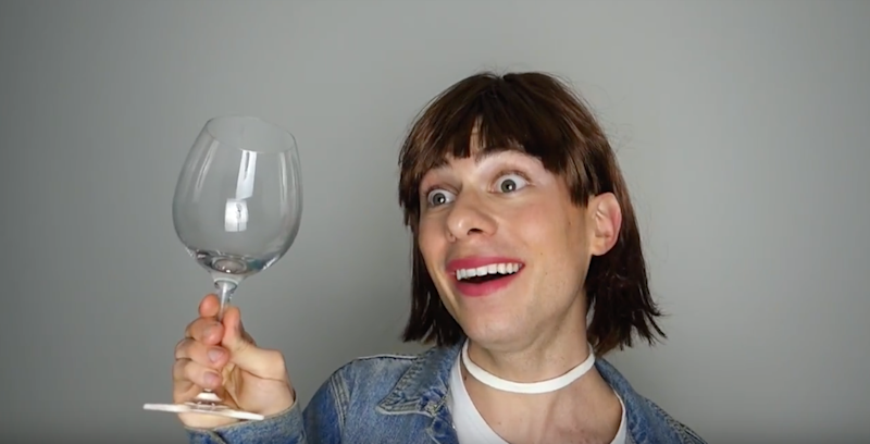 When you have to drink a bottle just to get through the date. Photo: Be