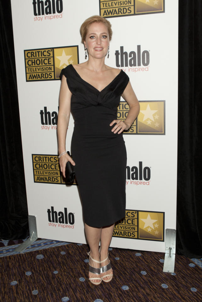 Gillian Anderson attends the 2012 Critics' Choice Television Awards at The Beverly Hilton Hotel on June 18, 2012 in Beverly Hills, California.