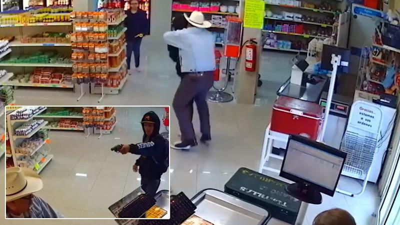 Hero in Cowboy Hat Foils Armed Grocery Store Robbery