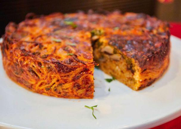 PHOTO: Vegetarian Spaghetti Pie made by Gail Simmons. (Jon Prospero/Rao's Homemade)