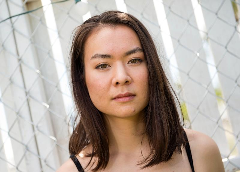 Musician Mitski poses at Coachella Valley Music And Arts Festival on April 16, 2017, in Indio, California (AFP Photo/VALERIE MACON)