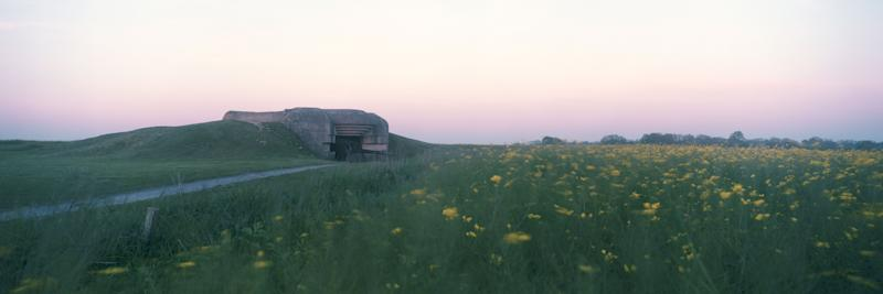 What was a German defense bunker during the June 6, 1944 D Day landings is seen over a field of Rapeseed, at dawn on May 14, 2019 in Longues-sur-Mer, France. (Photo: Dan Kitwood/Getty Images)