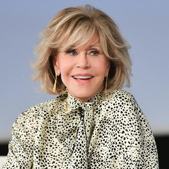 Fonda said she's usually in bed by 6:30 or 7 p.m., but doesn't actually fall asleep until 9:30 or 10 p.m.