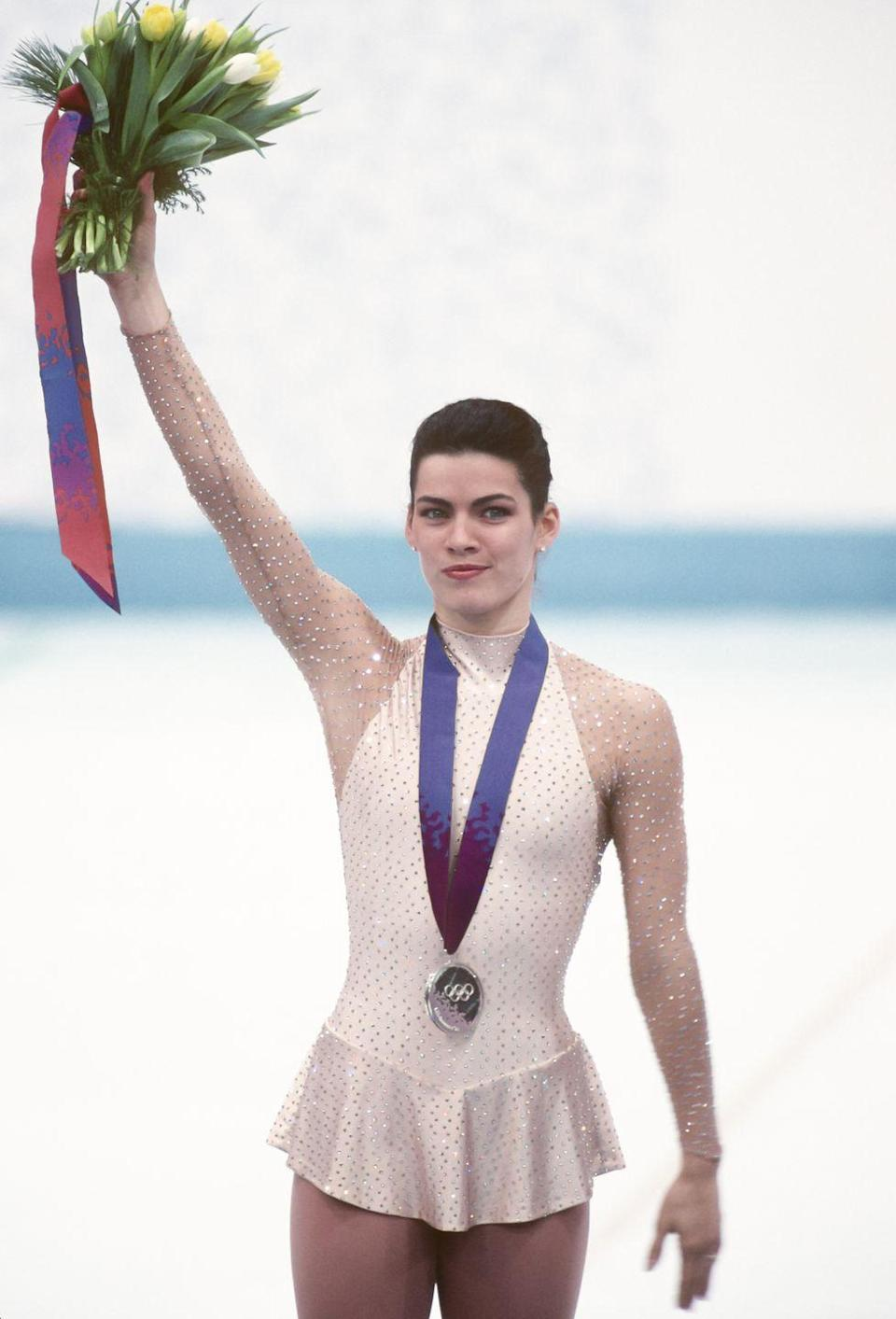 <p>In 1994, Nancy Kerrigan found herself swept up in one of the most dramatic events in figure skating history after she was struck on the leg while leaving the practice rink seven weeks before the Olympics. However the figure skating favorite made an amazing comeback and won the silver medal. Her competitor and an accomplice in the attack, Tonya Harding, competed as well, but landed in eighth place and was later banned from the sport for her involvement. </p>