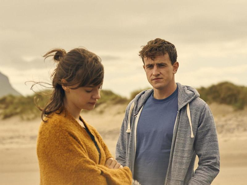 Daisy Edgar-Jones and Paul Mescal as Marianne and Connell in Sally Rooney adaptation 'Normal People': BBC