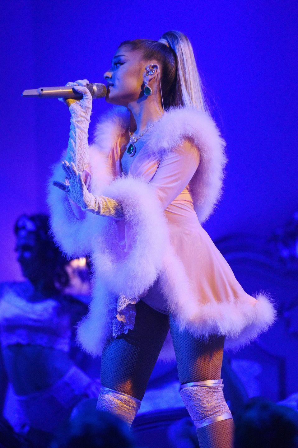 """<p>Within the first verse, this song <a href=""""https://www.elle.com/culture/music/a24612525/ariana-grande-thank-u-next-lyrics-song-audio-pete-davidson-reference/"""" rel=""""nofollow noopener"""" target=""""_blank"""" data-ylk=""""slk:name-drops several of Ariana Grande's ex-boyfriends"""" class=""""link rapid-noclick-resp"""">name-drops several of Ariana Grande's ex-boyfriends</a>, including Pete Davidson, Mac Miller, Ricky Alvarez, and Big Sean. So, obviously, the song is about past relationships, but also about """"gratitude, growth, embracing our path bumps n all,"""" <a href=""""https://twitter.com/ArianaGrande/status/1058722175207727104"""" rel=""""nofollow noopener"""" target=""""_blank"""" data-ylk=""""slk:according to the singer"""" class=""""link rapid-noclick-resp"""">according to the singer</a>.</p>"""