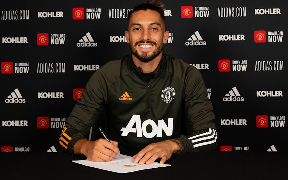 Alex Telles signs for Man United - GETTY