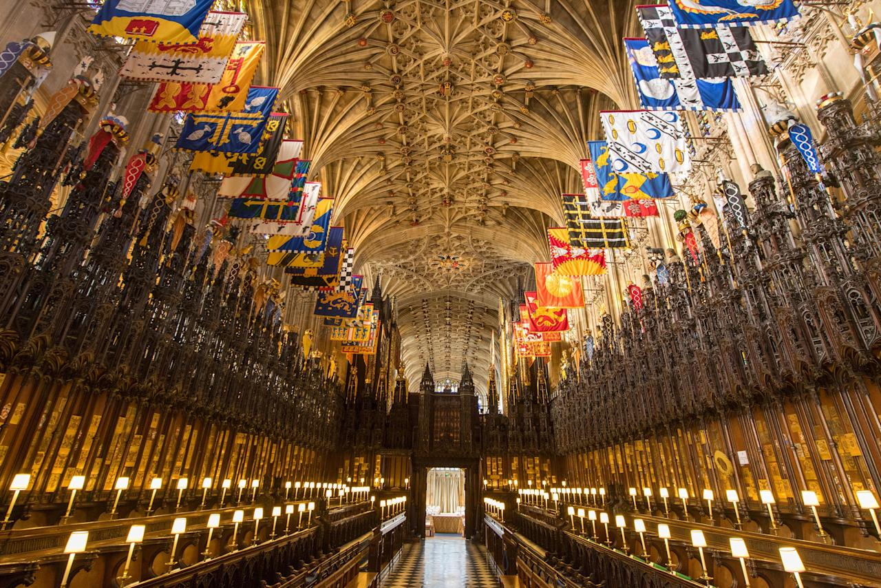 <p>The Quire in St George's Chapel at Windsor Castle, Berkshire. Prince Harry and Meghan Markle will have their wedding service in the chapel. (PA) </p>
