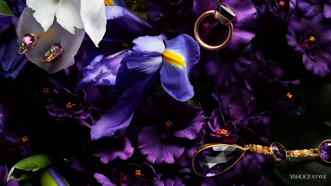 "<p><b>Birthstone:</b> Amethyst<br /><b>Birth Flowers</b>: Violets, Iris</p><p>Once favored by royalty (Cleopatra's signet ring featured a giant amethyst), this purple gem will keep you clear headed and quick witted at your next coronation—or cocktail party. And drink up! Amethysts are also supposed to prevent intoxication. </p><p>Pomellato M'ama Non M'ama Earrings in 18K Rose Gold, Amethyst, and Tsavorites, $2,800, 1.800.254.6020, pomellato.com. Pomellato Nudo Ring in 18K Rose Gold and Amethyst, $3,200, 1.800.254.6020, <a href=""http://www.pomellato.com"">pomellato.com</a>, A La Vieille Russie Amethyst and Gold Necklace - American ca. 1900, $42,000, <a href=""http://www.alvr.com"">alvr.com</a></p>"
