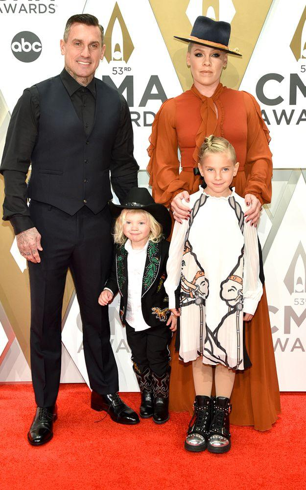 Carey Hart, Pink and their two kids, Jameson and Willow. | John Shearer/WireImage