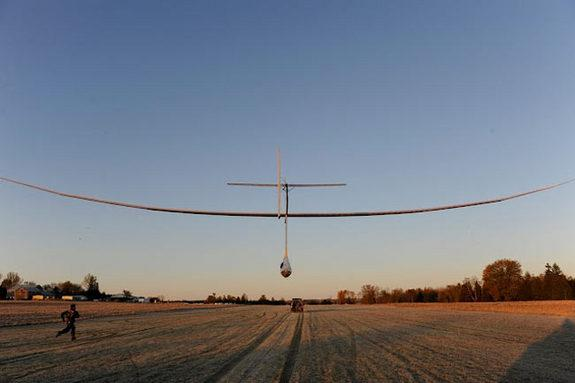 The AeroVelo team previously flew the world's first human-powered flapping wing aircraft.