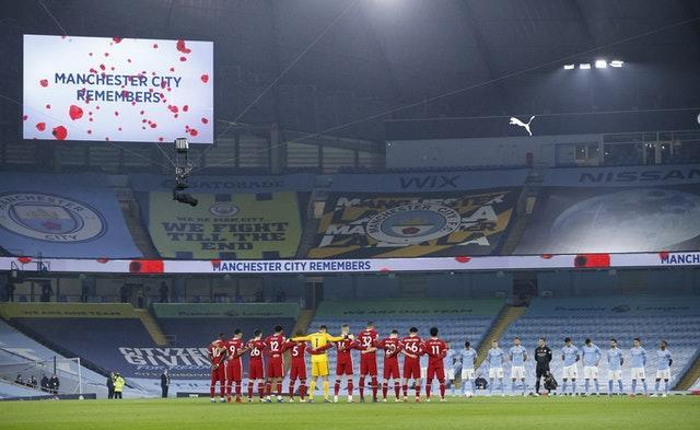 There was a minute's silence before every Premier League match to mark Remembrance Sunday