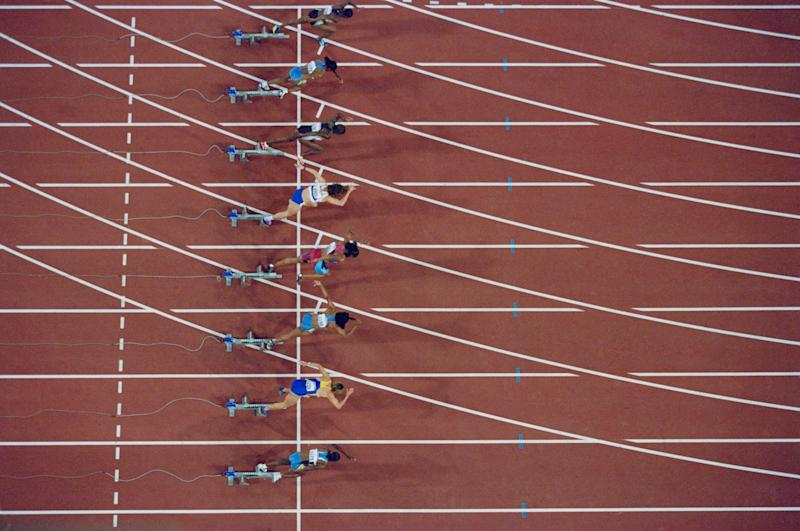 Experts found that for top sprinters, some muscles, such as hip extensor muscles, were far bigger compared to sub-elite sprinters (Getty Images)