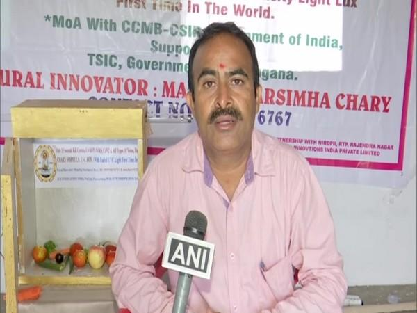 M. Narsimha Chary, a rural innovator from Telangana in conversation with ANI.