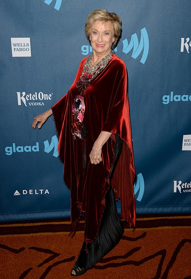 LOS ANGELES, CA - APRIL 20:  Actress Cloris Leachman arrives at the 24th Annual GLAAD Media Awards presented by Ketel One and Wells Fargo at JW Marriott Los Angeles at L.A. LIVE on April 20, 2013 in Los Angeles, California.  (Photo by Jason Merritt/Getty Images for GLAAD)