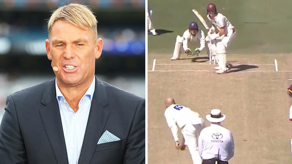 Shane Warne (pictured left) took aim at Nathan Lyon's (pictured right) tactics in the past.