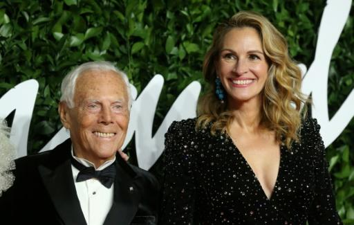 Fashion legend Giorgio Armani received the 'outstanding achievement' award from Hollywood star Julia Roberts