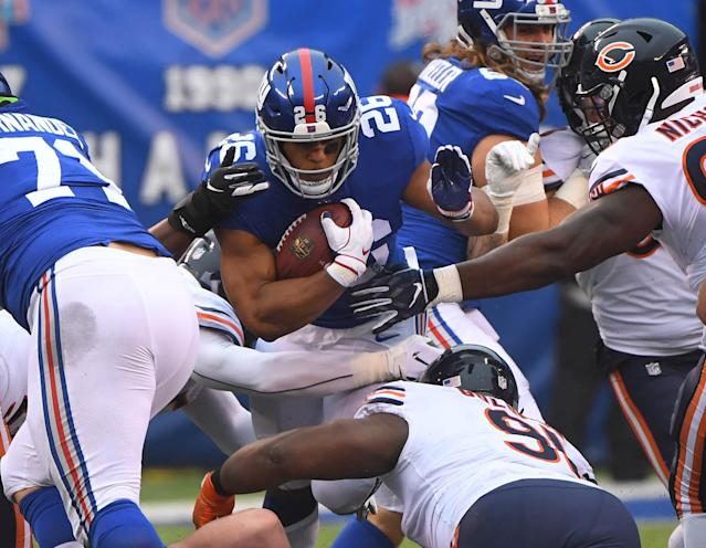 Saquon Barkley has provided the spark that sees the Giants on the rise this season